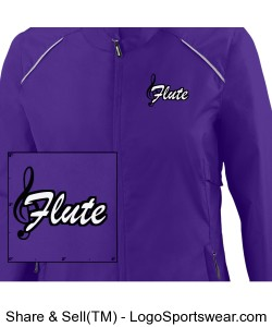 Purple Flute Shirt Design Zoom