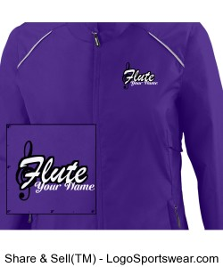 Purple Flute Jacket w/ Name Design Zoom